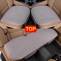 Tissu de lin housse de siège de voiture quatre saisons avant arrière coussin de lin respirant protecteur tapis tapis Auto accessoires taille universelle