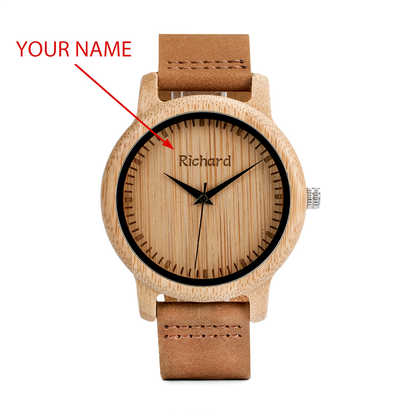 Image 2 - BOBO BIRD Couple Watch Men Women Wood Quarzt Wristwatches for Male Personalized Engraved Anniversary groomsman Gift-in Lover's Watches from Watches