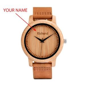 Image 2 - BOBO BIRD reloj de madera para hombre y mujer, relojes de pulsera para hombre, grabado personalizado, regalo de padrino de aniversario