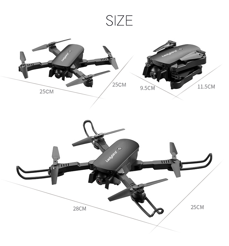 4K Mini Drone Professional Camera HC Foldable Off-Point Quadcopter Gps R8 Height Hold Mode Kids Toy 27