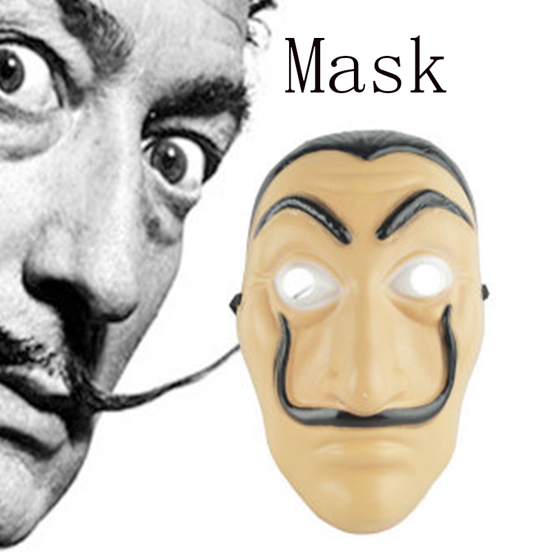 Salvador Dali Masks La Casa De Papel Face Mask The House Of Paper Role Playing Party Cosplay Costume Halloween Christmas Masks