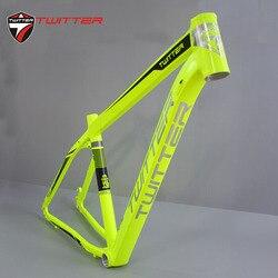 TWITTER 3900XC marco bicicleta de montaña 15,5 17 19 pulgadas aluminio MTB bicicleta marco para rueda tamaño 29er bicicletas Marco Conjunto