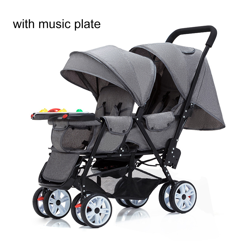 Light Weight Twin Baby Stroller Newborn Twins  Double Umbrella Stroller Can Sit and Lie Baby Carriage Infant Pram Travel Carts