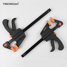 4 INCH 3PCS Woodworking Bar F Clamp Clip Hard Grip Quick Ratchet Release DIY Carpentry Hand Vise Tool