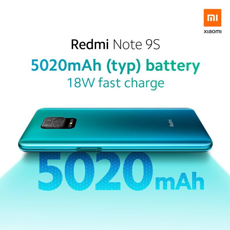 Global Version Xiaomi Redmi Note 9S 6GB 128GB Smartphone Snapdragon 720G Octa core 5020 mAh 48MP Quad Camera Note 9 S