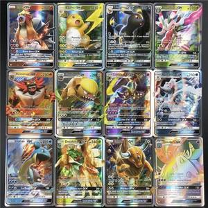 Image 5 - 25/50/100pcs karty do gry Trading Pokemones gra karciana karta kolekcjonerska angielska wersja Battle Carte Kids Toys