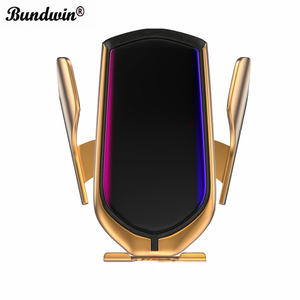 Image 1 - bundwin Car Wireless Charger 10W Automatic Clamp Phone Holder for Huawei Mate 20 Pro Samsung S9 Note9 Note8 Qi Fast Charge Mount