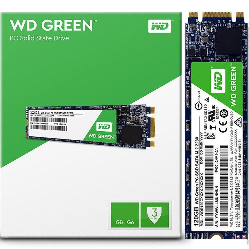 Original WD Verde SSD de 480GB 240GB 120GB Unidade de Disco Rígido de Estado Sólido Interno TLC M.2 2280 540MB NGFF 22*80mm para Laptop