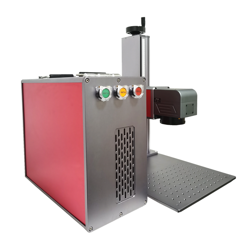 30W Fiber Laser Marking Machine Made Of Aluminium Material And High Quality Field Lens