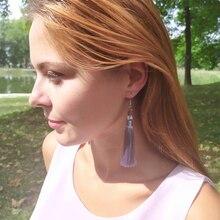 Boho Drop Tassel Women Earrings Long Fringe Dangle Earrings Silk Fabric Rope Wrap Ethnic Vintage 2019 Fashion Jewelry цена