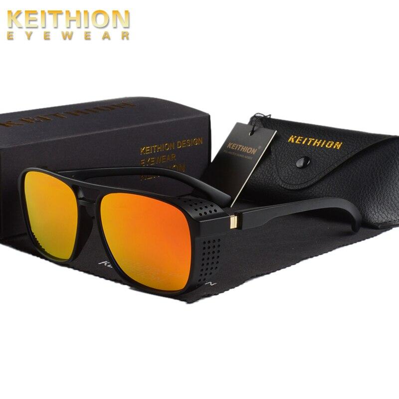 KEITHION Men Round Steampunk Sunglasses Women Vintage Steam Punk Sun Glasses Fashion Brand Designer Retro Windproof Eyewear