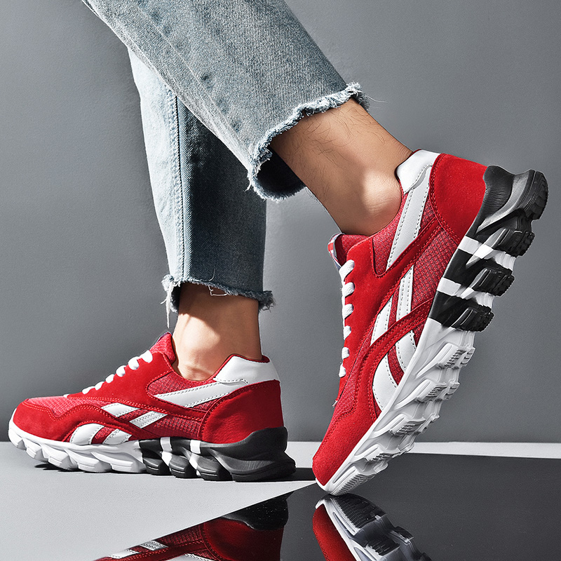 2020 Men's Air Mes Lace Up  Sneakers Breathable Running Sport Shoes Outdoor Men Sneakers Shoes Light Weight Rubber Sole Lace-up