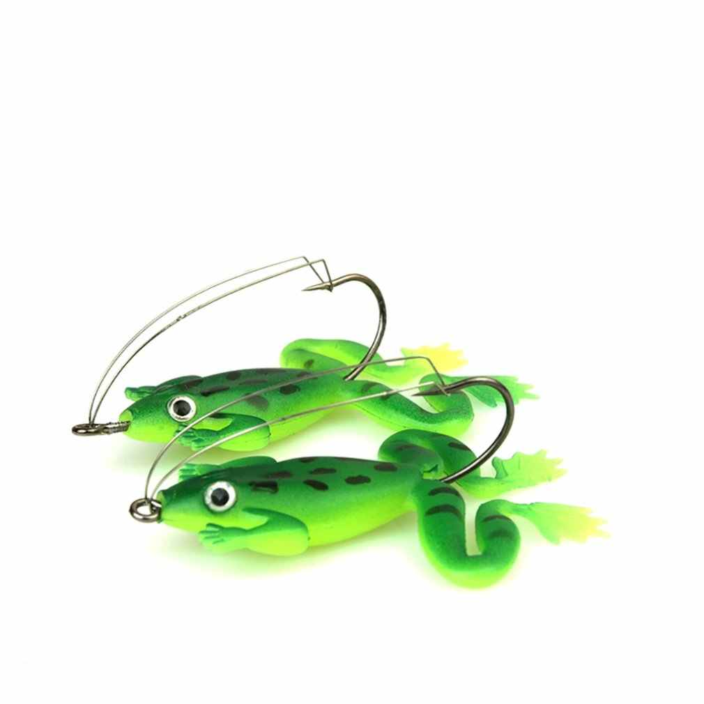 Frog Simulation Fish Type Soft With Hook Road Lure Bait Hard Bait Fishing Equipment With Feather Bait Accessories