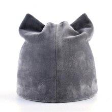 Cap Velvet Women's Ladies Beanie-Hat Polyester Winter Warm Girls Plus Cute Solid Ear-Protect