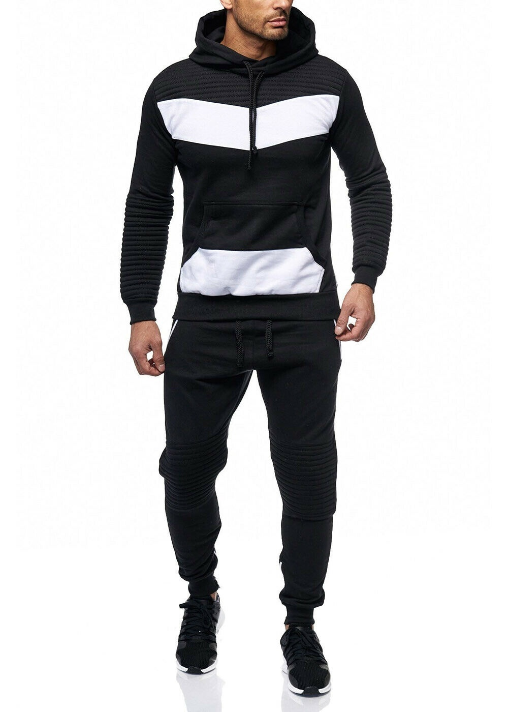 ZOGAA Men Tracksuit 2 Sets Of New Fashion Jacket Sportswear Men's Sweatpants Hoodies Spring And Autumn Men's Brand Hoodies Pants