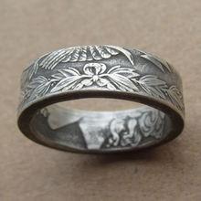 Изысканное индивидуальное кольцо в виде монеты ручной работы