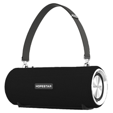 Top HOPESTAR H39 Wireless Portable Bluetooth Speaker Waterproof Outdoor Bass Effect Speaker With Power Bank Usb Aux Mobile Compu