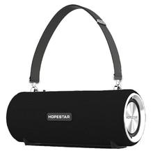 Topestar h39 alto falante portátil sem fio bluetooth à prova dwaterproof água ao ar livre baixo efeito com banco de potência usb aux móvel compu
