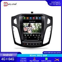 Автомобильное радио для Ford Focus 3 Mk 3 Tesla screen Tesla style 2011 ~ 2019 автомобильное радио Мультимедиа Видео плеер навигация GPS Android