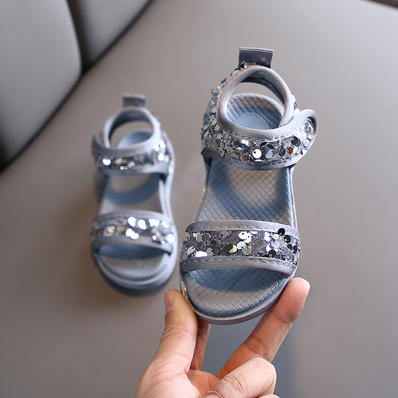 2020 New Fashion Big Flower Summer Sandals Toddler Girls Shoes Children Sandals Girls Princess Soft Shoes Kids