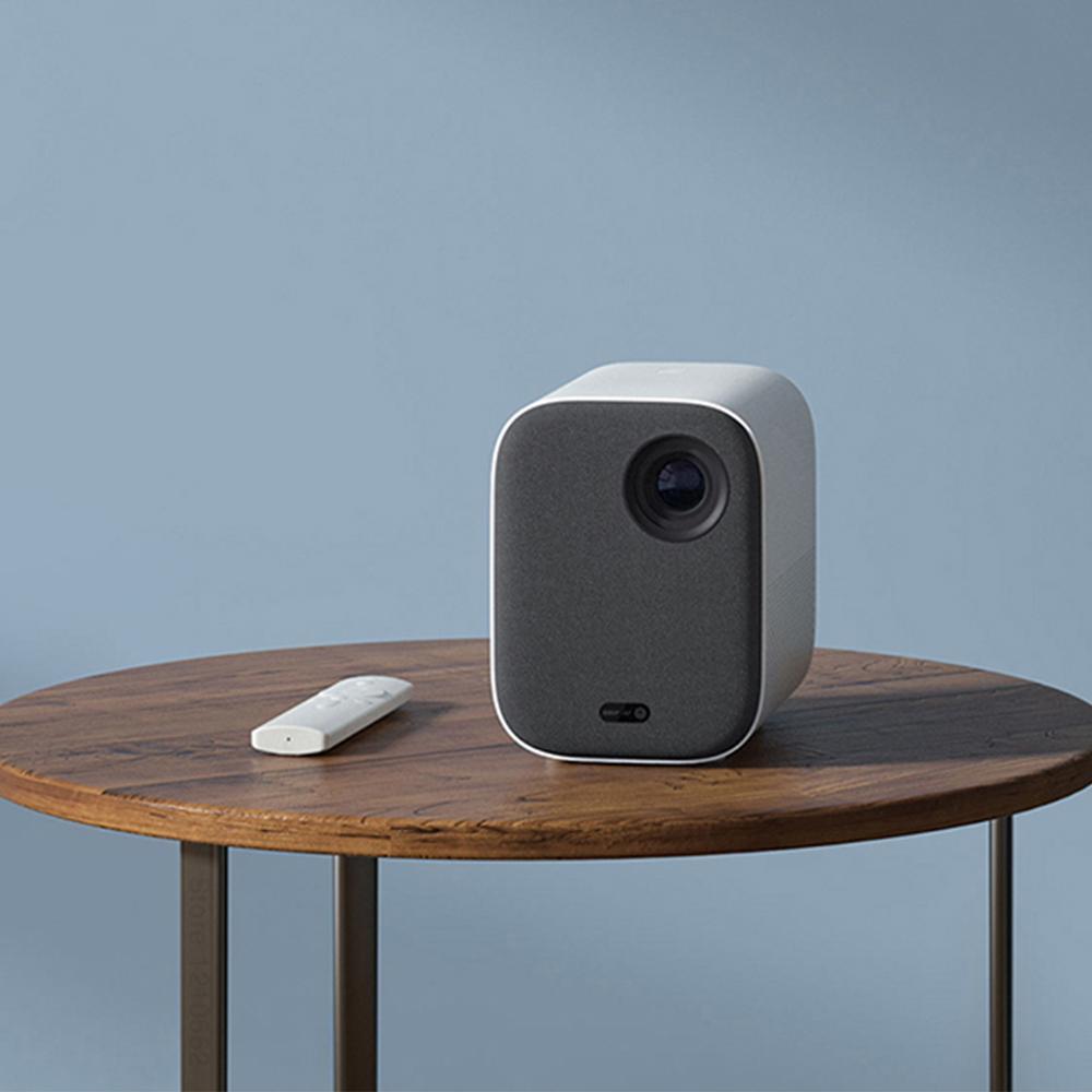 Xiaomi projetor inteligente para casa mini 3d 500 ansi lumens 1080p dlp dolby caixa de tv áudio foco automático correção keystone vertical-4