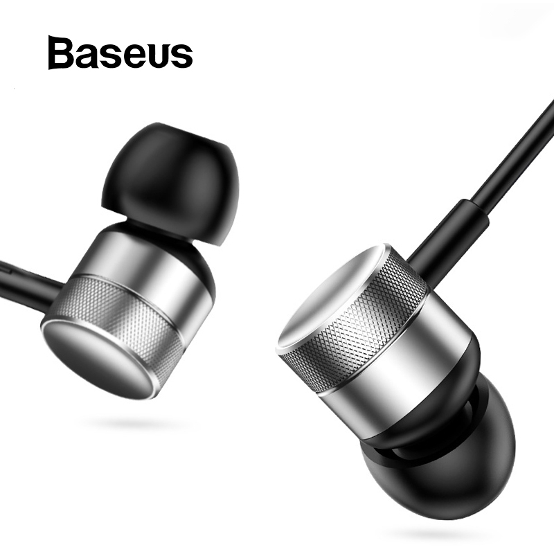Baseus Sport Earphones MP3 Auriculares Bass-Sound Samsung Headset In-Ear with Mic  title=