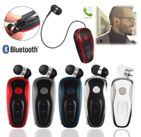CUIMENG Wireless Bluetooth Stereo Earphone Headphone Clip Headset Clip on Earbud Retractable Handsfree Calling KZ007