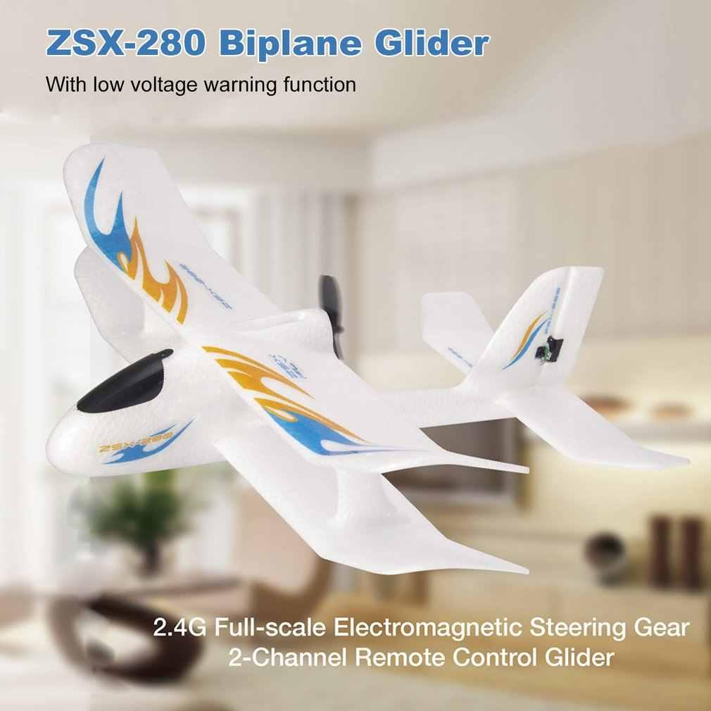 2.4GHz 280mm envergure EPP pleine échelle Servo électromagnétique intérieur biplan planeur RC avion RTF ZSX-280