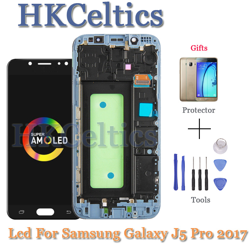 New 100% Super AMOLED J530F LCD For <font><b>Samsung</b></font> <font><b>Galaxy</b></font> <font><b>J5</b></font> Pro <font><b>2017</b></font> <font><b>Display</b></font> With Frame 5.2