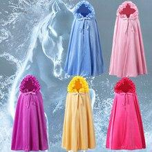 2019 gefrorene 2 Mädchen Elsa Party Prinzessin Kleid Cosplay Elsa Kostüme Mäntel blau Blau, rosa rose Gelb, lila Mantel, Cape