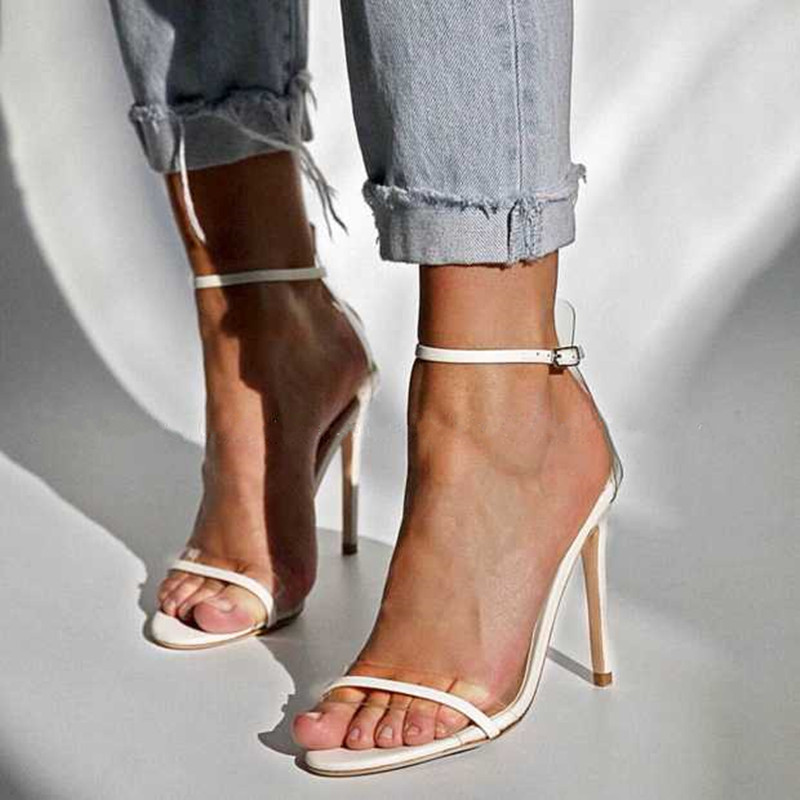 YECHNE Sexy Serpentine Women Open Teen Hooks Sandals Lady Gladiator Sandals Plus Size Party Brilliant Hook High Shoes Black