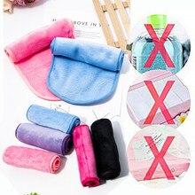 Removedor de maquiagem borracha reutilizável toalhas compõem a limpeza toalha de pano de fibra leve prático suave para maquiagem feminina