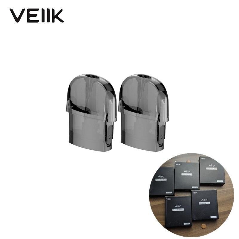 10pcs/set Original VEIIK Airo Pod 2ml Replacement Empty Vape Cartridge 1.2ohm Coils For VEIIK Airo Pod Electronic Cigarette Kit