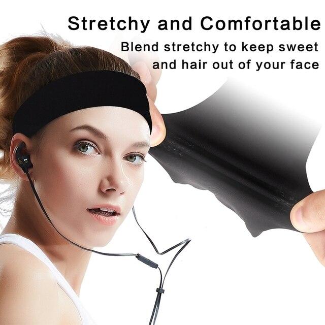 Sports Headband Men'S Hair Band Sweat Belt  Fitness Sweat-Absorbent Turban Yoga Running Hair Band 3