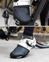 Cubierta para zapatos de ciclismo, Protector de media palma para el dedo del pie, a prueba de viento, material PU superior, para bicicletas de montaña y carretera