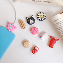Funny Flower Charging Cable Protector Cover For Mobile Phone USB Cable Data line Fracture prevention Cartoon Dog Portable case