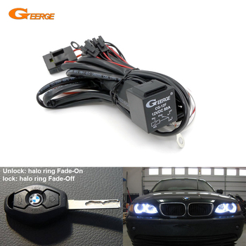 Relay Wiring Harness Kit For BMW Angel Eyes Halo Rings LED or CCFL Relay Harness w/ Fade-on Fade-off Features image