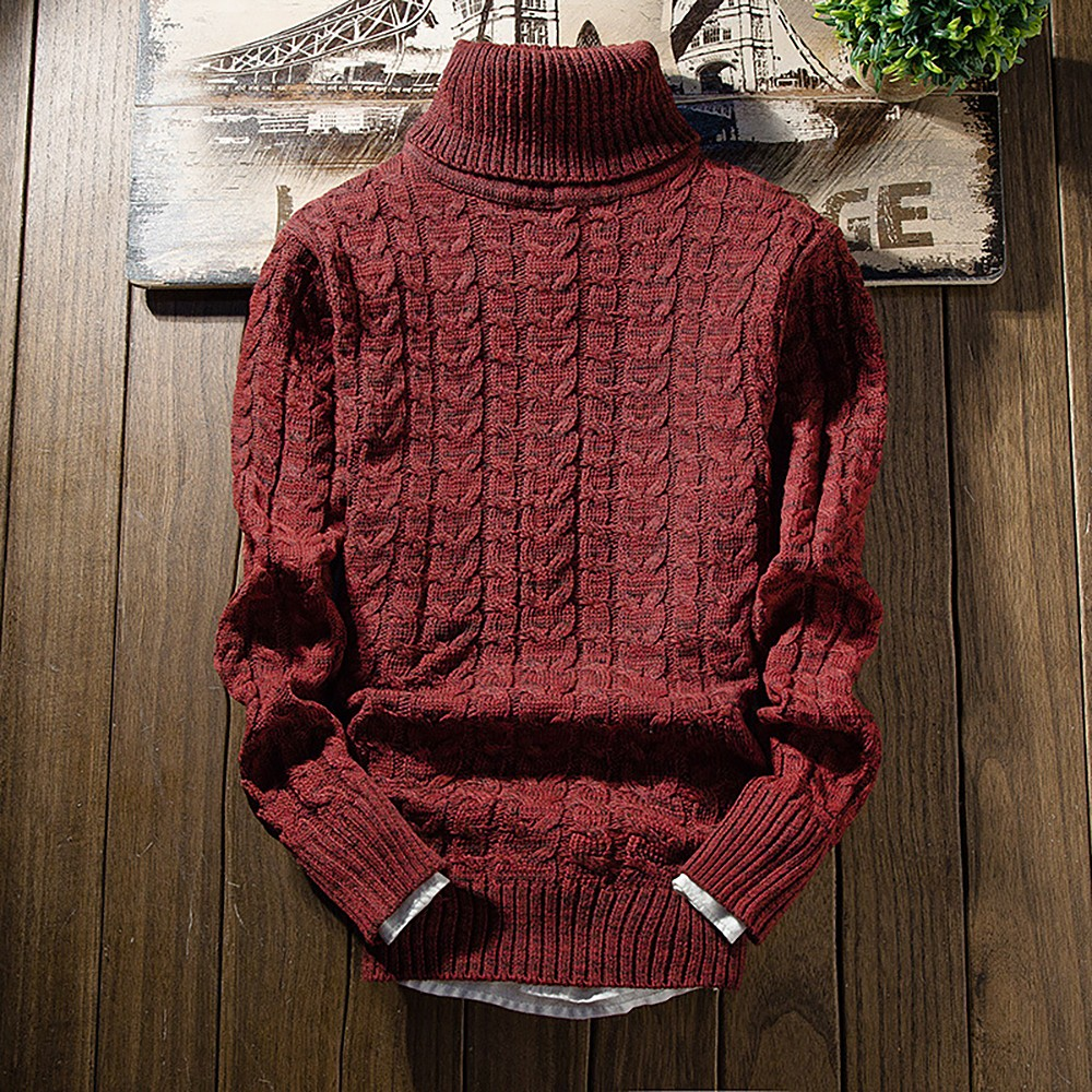 2019New  Casual Long Sleeve Autumn Winter Sweater Men Korean Style Slim Knitted Blue Sweater Pullover Jumper Fashion Christmas