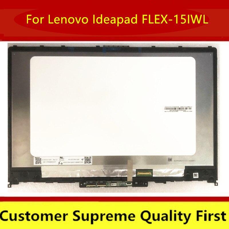 Для Lenovo Ideapad FLEX-15IWL LED LCD Touch LED LCD сенсорный экран дигитайзер дисплей в сборе + рамка 15,6