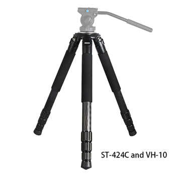 Rugged Camcorder Photographic Carbon Fiber big Tripod professional Birdwatching heavy duty dslr video camera Tripod stand