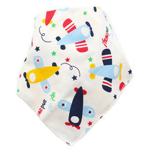 1pc Baby Bibs Cotton Infant Feeding Towel Newborn Girls Boys Toddler Triangle Scarf Bandana Cute Cartoon Absorbent Cloth(China)