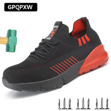 2019 New Breathable Deodorant Labor Insurance Shoes Steel Toe caps Anti-smashing Safety Shoes Non-slip Wear-resistant Work Boots