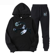 Men Scorpion Big picture New Fashion Brand Solid Color Hoodie Street Clothes Hip Hop Sweatshirts / Women  Sweatshirt