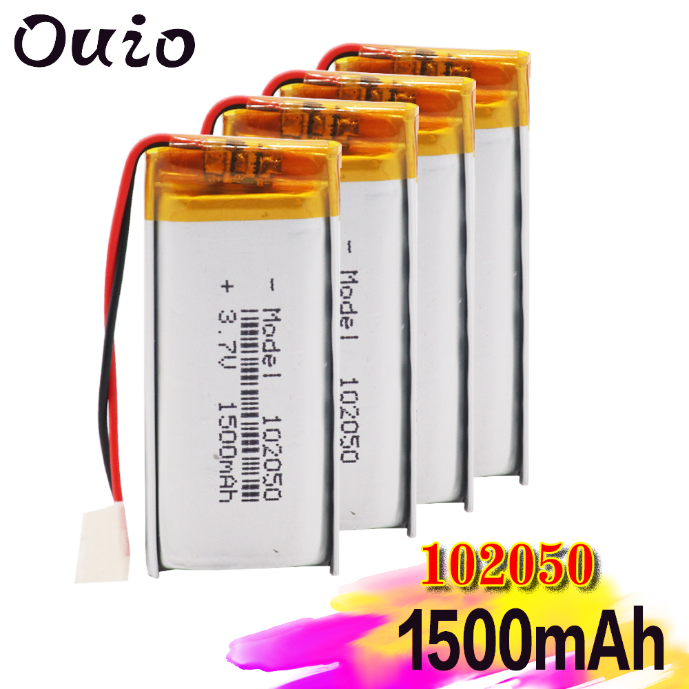 1500mah Lithium-ion Polymer Battery 3.7 V 102050 For Mp3 Mp4 Mp5 Gps Ktv Household Battery Amplifier Audio Computer Microphone