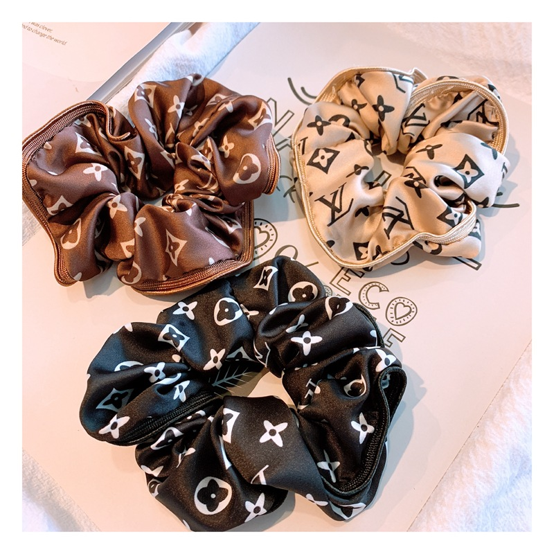 Designer Brands Hair Scrunchie Elastic Satin Hair Solid Color Women Girls Headwear Ponytail Holder Ties Rope Hair Accessories