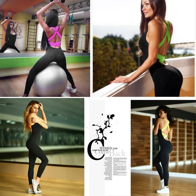Fashion High Elasticity Gym Clothing Suit For Women 1