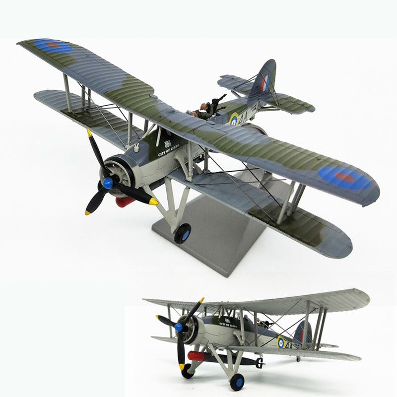 rare Special Offer 1 72 World War II Britain Model of biplane Sunk Bismarck Alloy Military