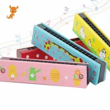 16 Holes Cute Harmonica Musical instrument Montessori Educational Toys Cartoon Pattern Kids Wind Instrument Children Gift musical instrument 16 crash cymbal