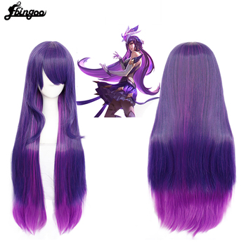 Ebingoo LOL Game Syndra Synthetic Cosplay Wigs Guardians Of Stars Cosplay Heat Resistant Wigs Halloween Carnival Party Women Wig l email wig new fgo game character cosplay wigs 10 color heat resistant synthetic hair perucas men women cosplay wig
