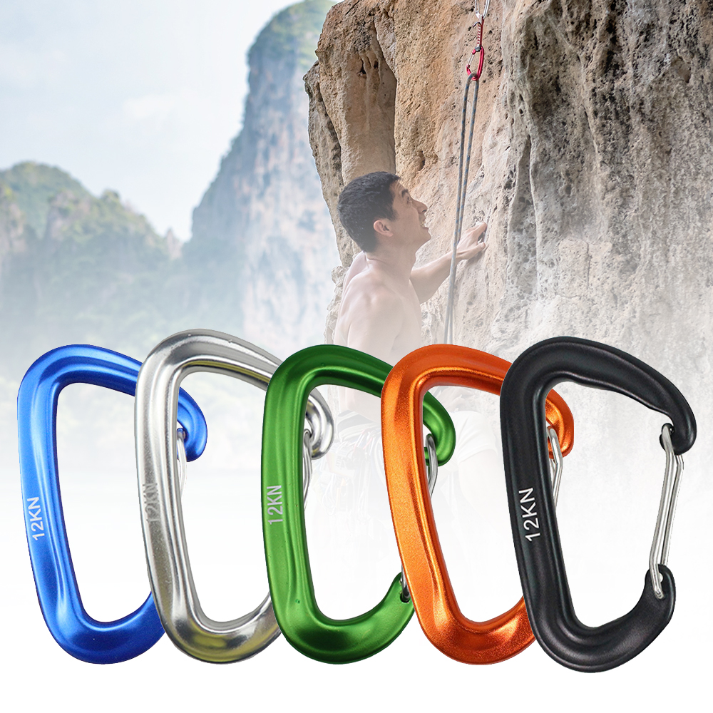 2020 High-Strength Aviation Aluminum 7075 Material Climbing Hanging Hammock Safety Buckle Mountaineering Hook Carabiner Alumin
